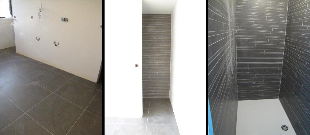 De grootse plannen van Koen & Heidi...: De badkamer betegeld...