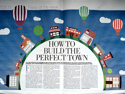 How to build the perfect town - the centre page spread from the Sunday Herald
