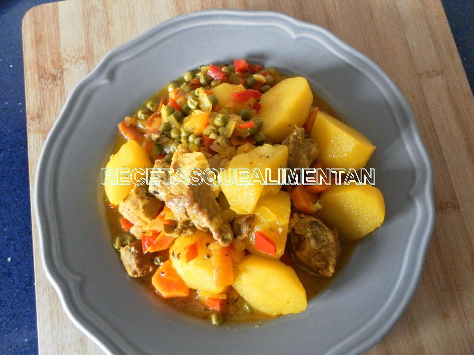 Recetas que alimentan cerdo estofado en olla r pida - Patatas en olla rapida ...