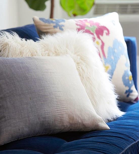 shaggy yastıklar