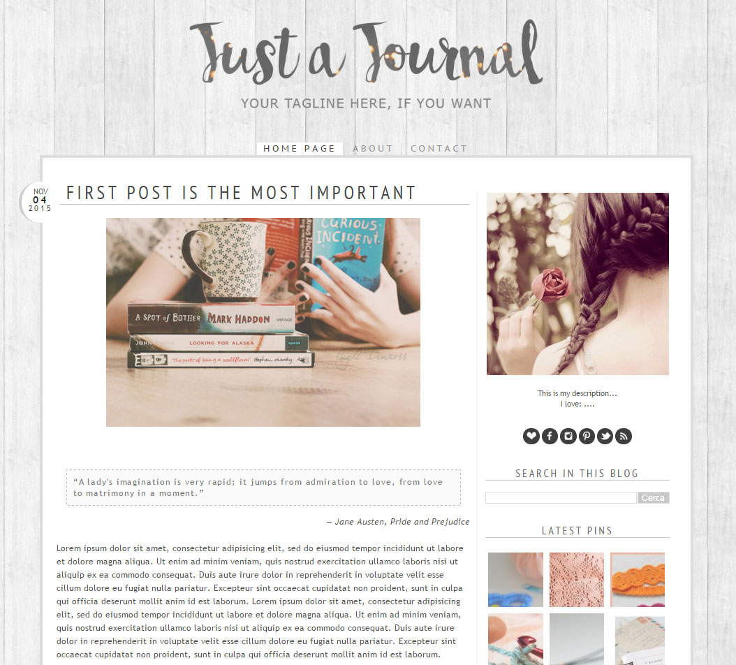 Blog design: nuovi template dal... passato