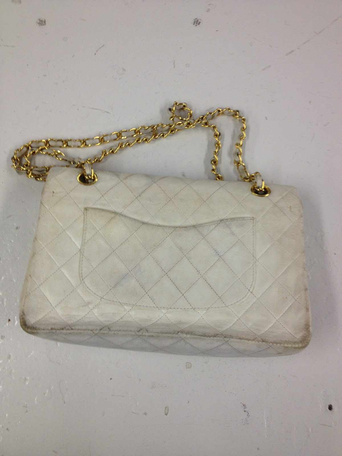 64f18edb6235 She chose to go with the color black so the purse wouldn t show stains as  bad.