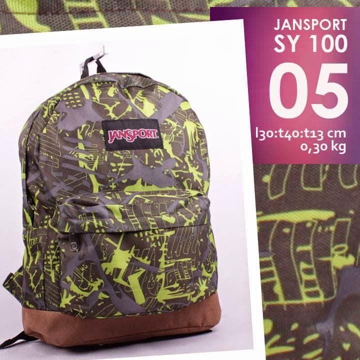 jual online tas jansport murah model ransel motif abstrak