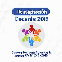 REASIGNACIÓN DOCENTE 2019