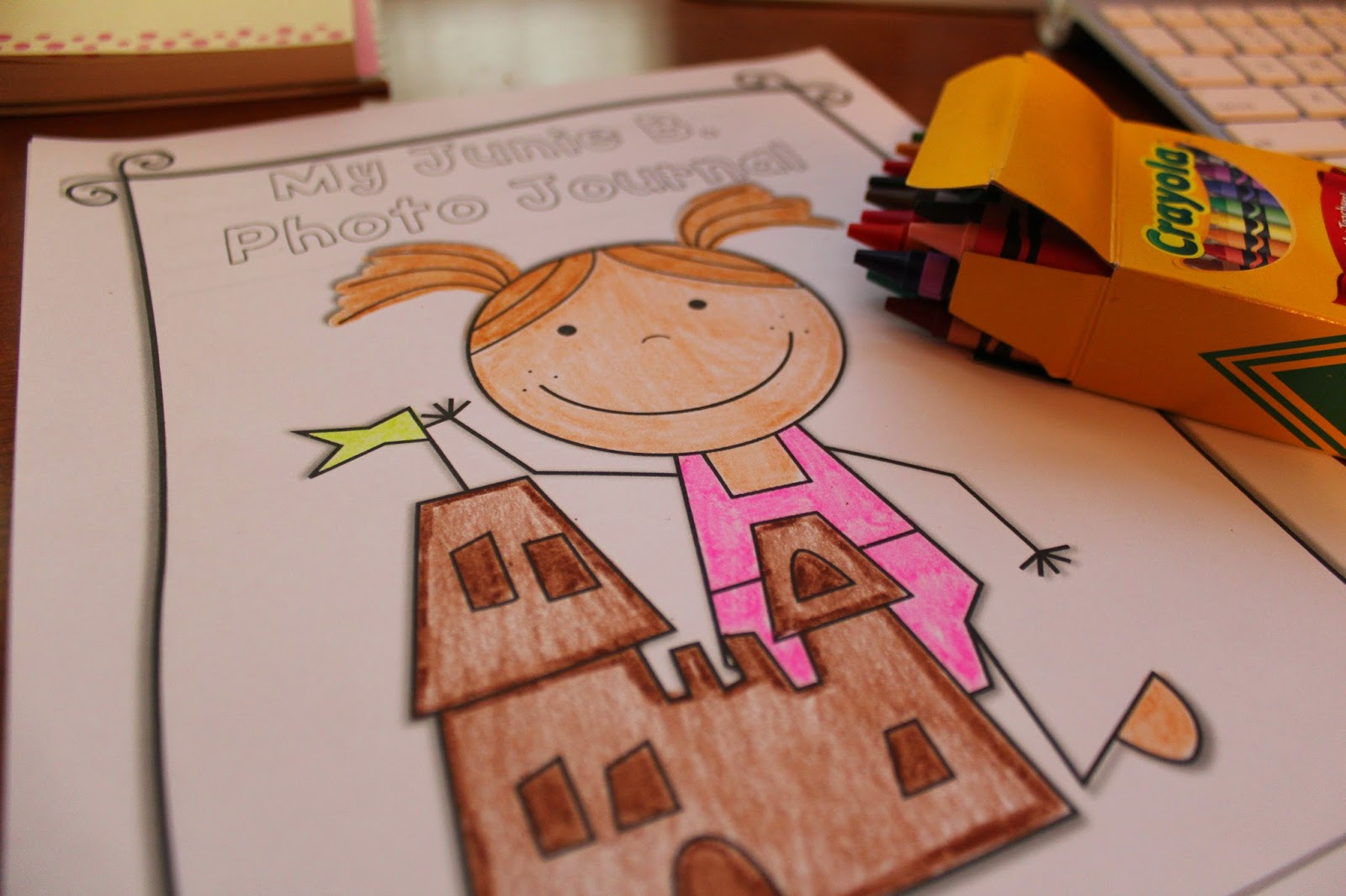 Junie b coloring pages - Photo Journal With A Page For Each Day