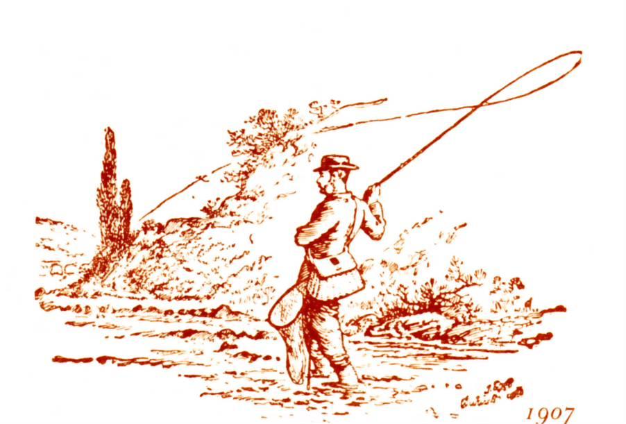 La composizione su una pesca soggetta di successo