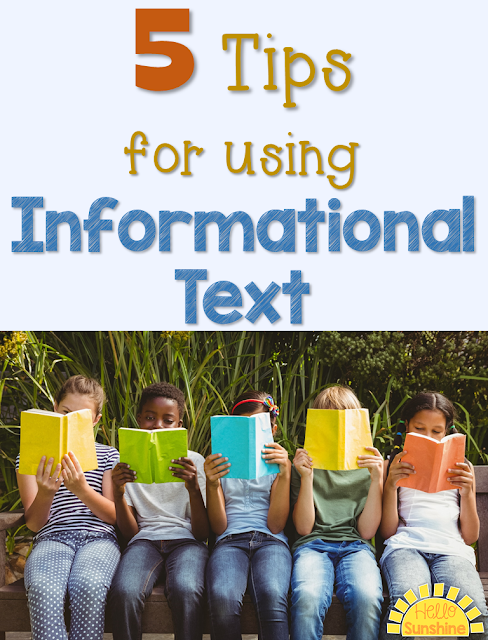 You can use informational text to teach reading skills.  Tips for using content area texts from science and social studies for your reading instruction.