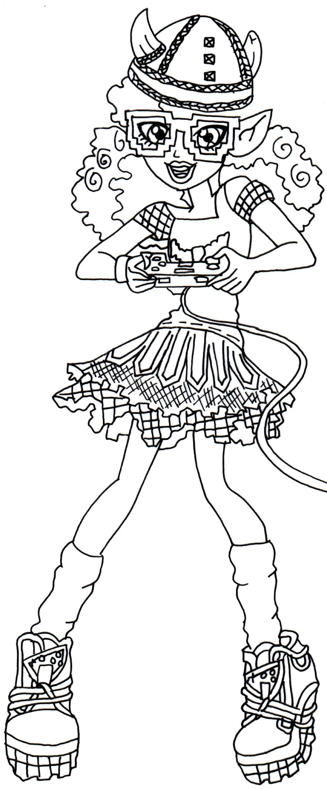kjersti trollson monster high coloring page