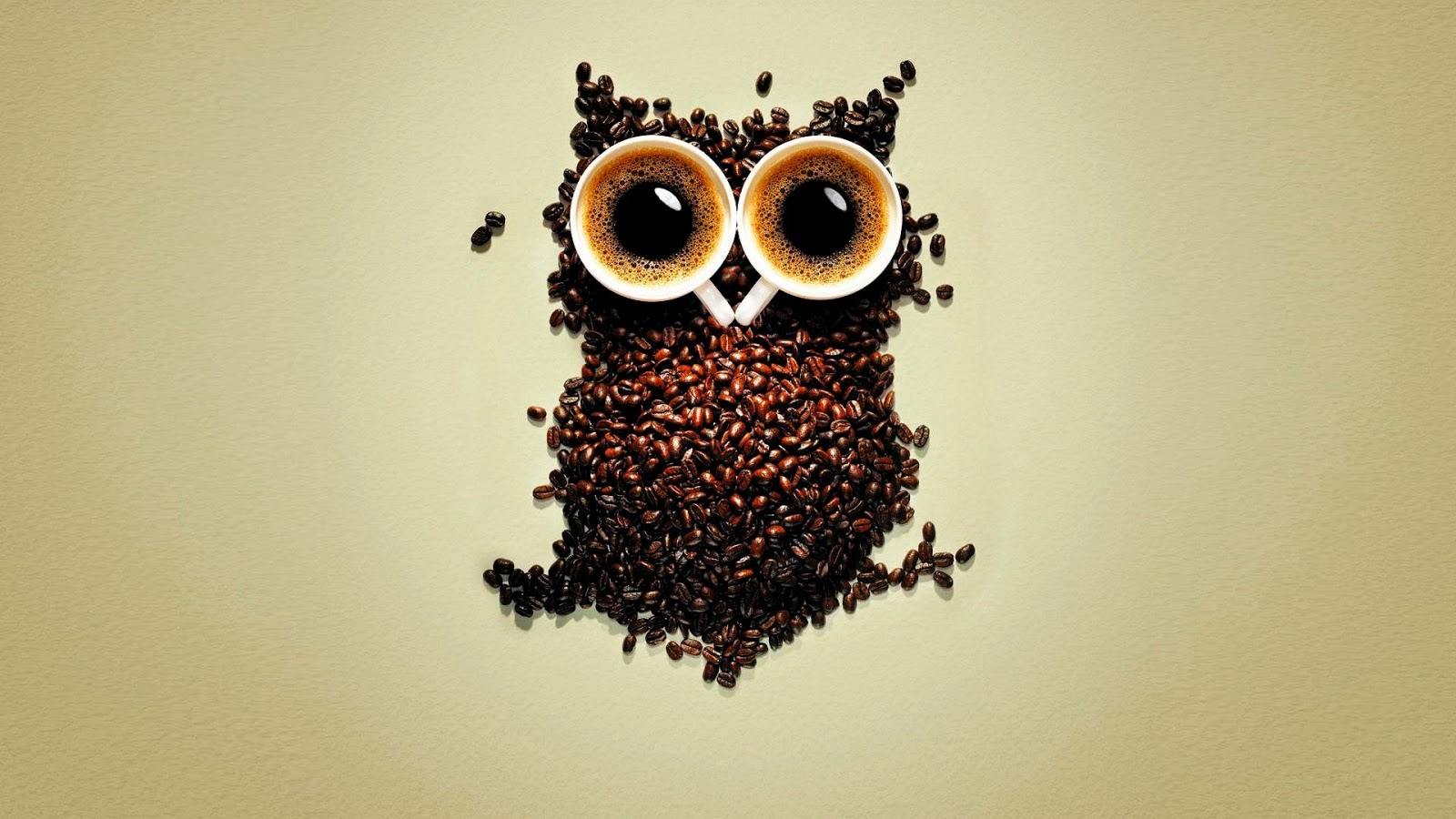 Abstract Coffee owl hd wallpaper
