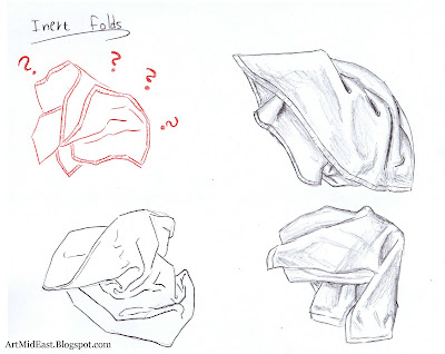 how to draw folds inert