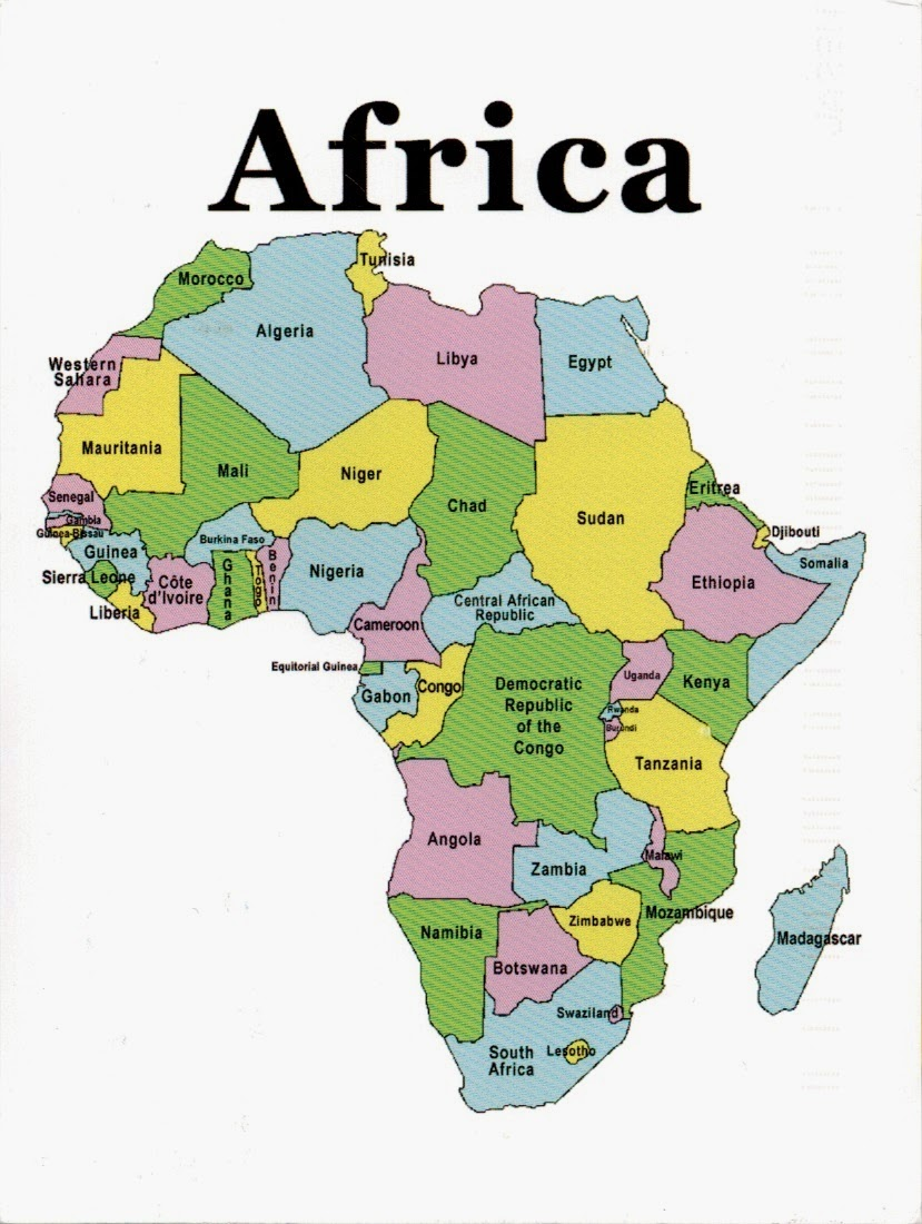 Map africa continent militaryalicious map africa continent gumiabroncs Image collections