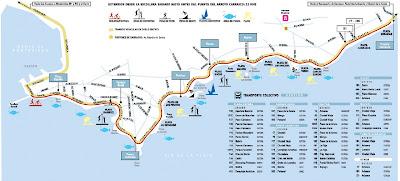 Mapa costeiro de Punta Del Este