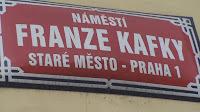 Calle Kafka en Praga,