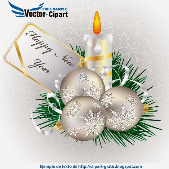 Felicitación de Navidad nácar - Vector