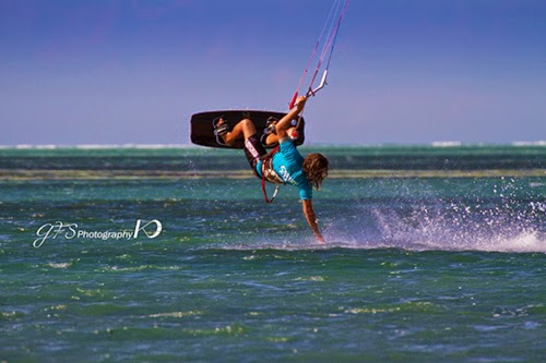Kitesurf, kiteboarding, Murrebue, lagoon, crystal clear waters