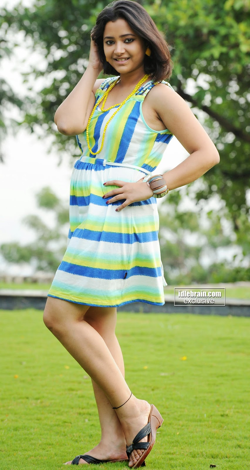 Swetha Basu green dress