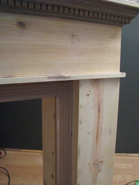 Fluted Trim Boards ~ Blue roof cabin diy mantel