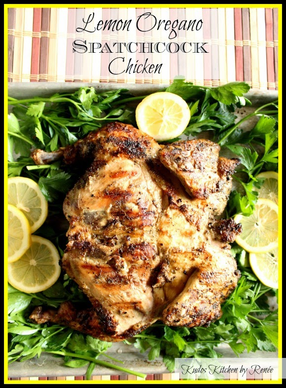 Lemon Oregano Spatchcock Chicken Recipe