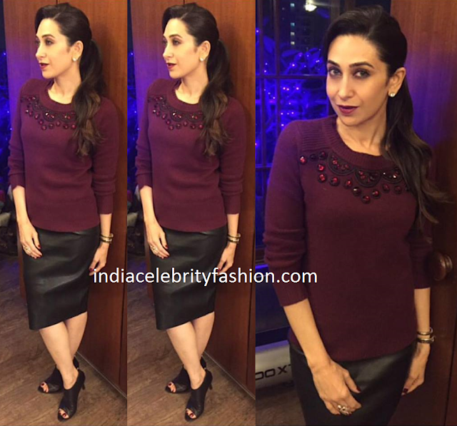 Karisma Kapoor in Burberry and Forevernew