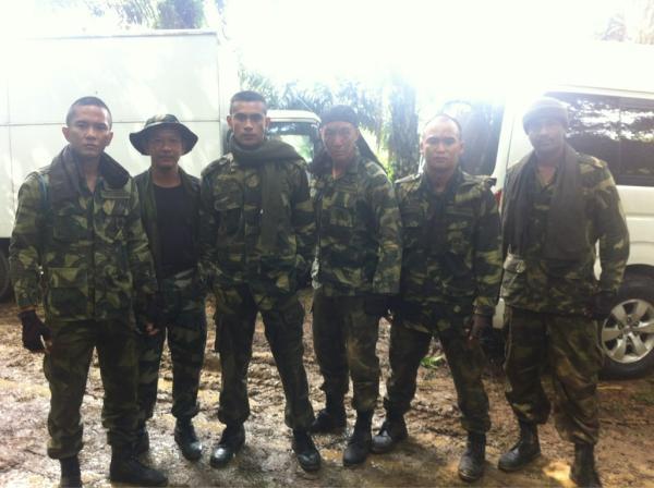 Remy,Beto dan pelakon filem Bravo 5