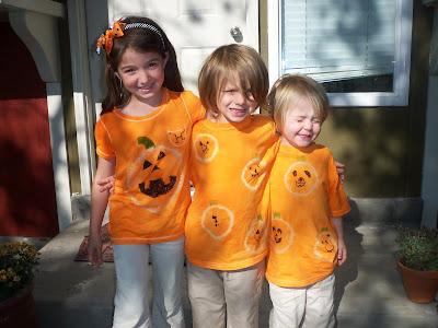 Fall shirt craft with kids