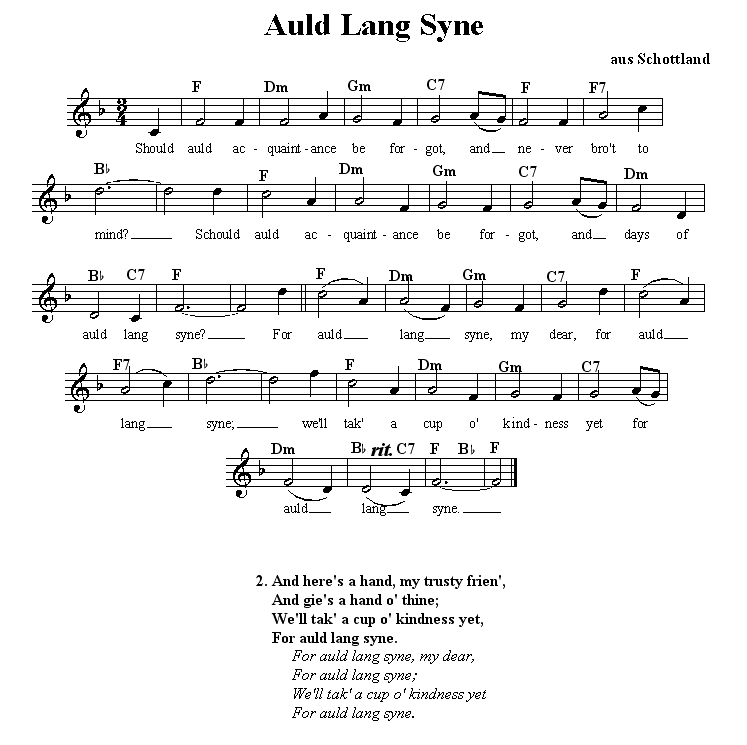 Auld Lang Syne Auld Lang Syne By 3 In Australian Village