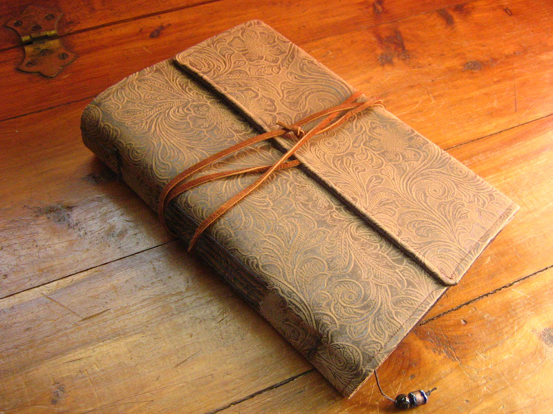Wool and wheel handbound faux leather journal - Faux journal personnalise ...