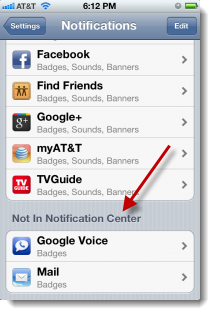 Not In Notification Center