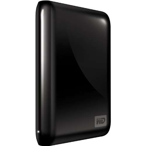 WD My Passport Essential 500 GB USB 3.0/2.0 Portable External Hard Drive (Midnight Black)