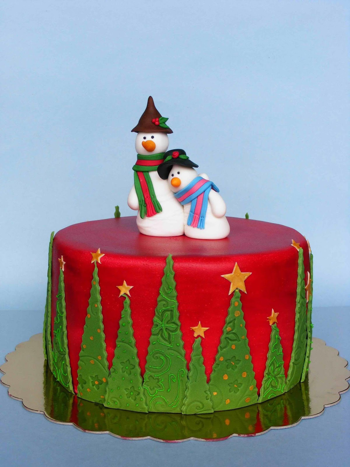 Cake Decorating Designs Christmas : 1000+ images about Single Tier Cakes on Pinterest ...