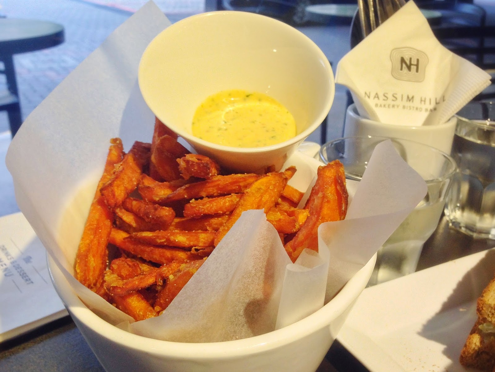Sweet Potato Fries with Cilantro Chili Lime Aioli