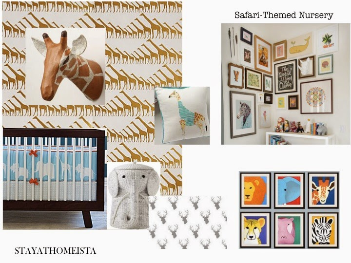 Safari Themed Nursery from StayatHomeista