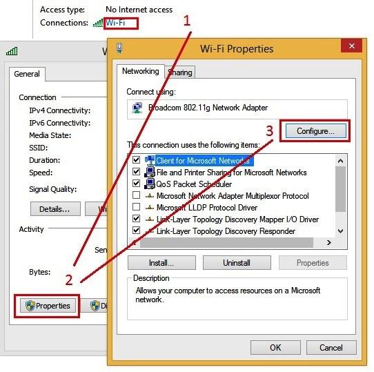 Sửa lỗi Wifi rớt, không ổn định trên Laptop cài Windows 8.1 2