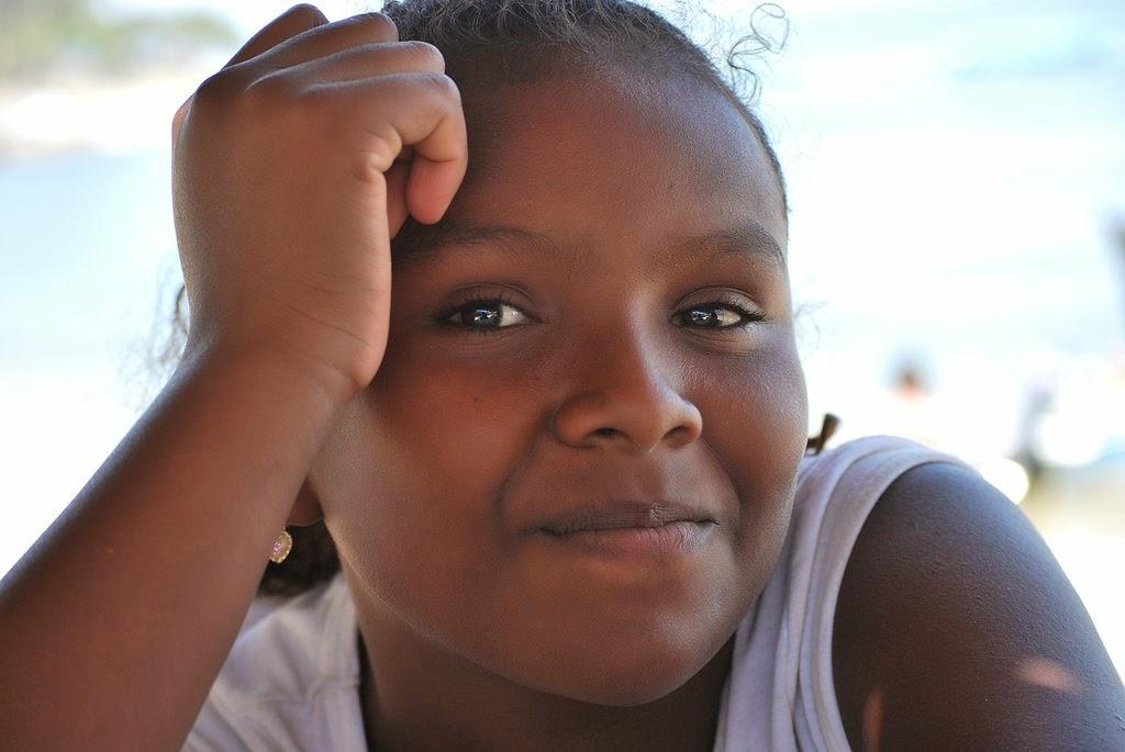 una muchacha afromexicana