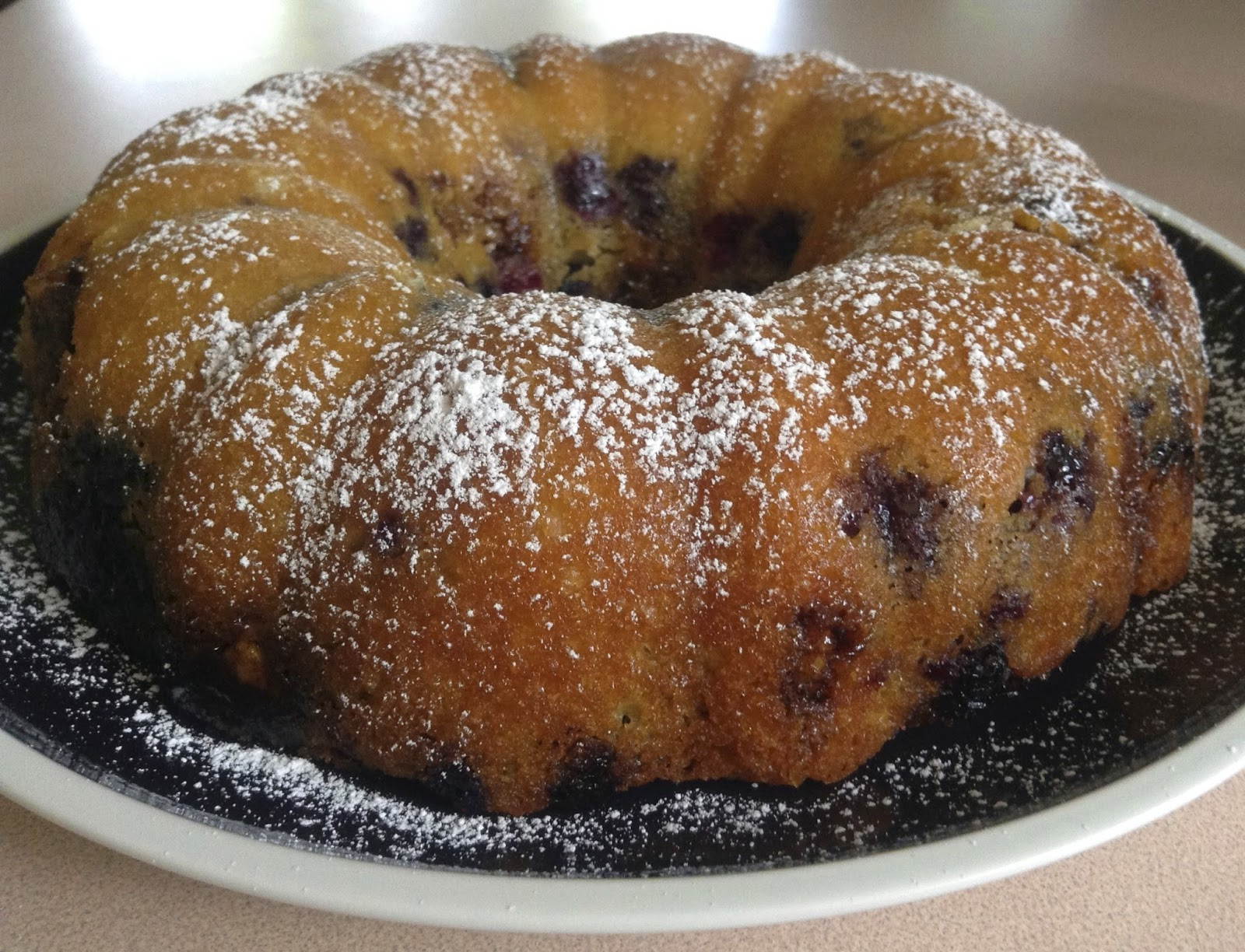 Nut Coffee Cake with Blueberries