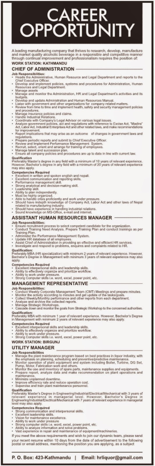 Industrial/Electrical/Mechanical Engineering Job Vacancy @ a ...