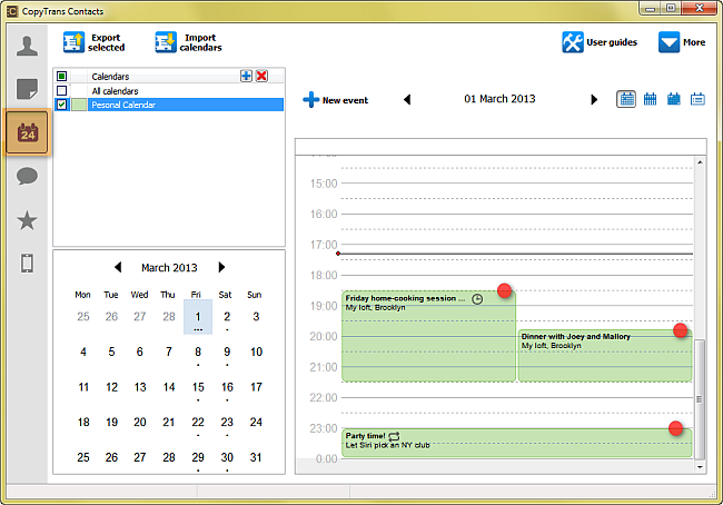 export iphone calendar to outlook