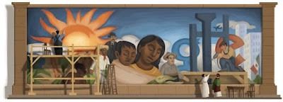 Diego Rivera 125th Birthday Google Doodle