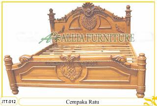 Tempat tidur kayu jati ukir jepara Cempaka Ratu murah.Jakarta