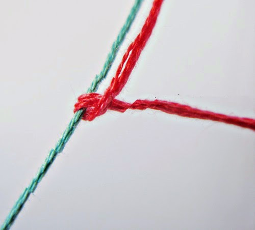 I love artigianato braccialetti dell 39 amicizia con i cuori for Nodo invisibile per unire due fili di lana