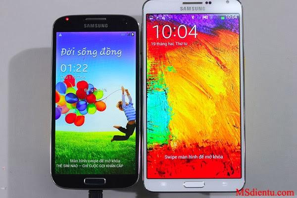 samsung galaxy S4 và Samsung Galaxy Note 3 trung quốc