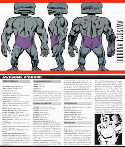 Ficha Marvel Comics Androide Asombroso