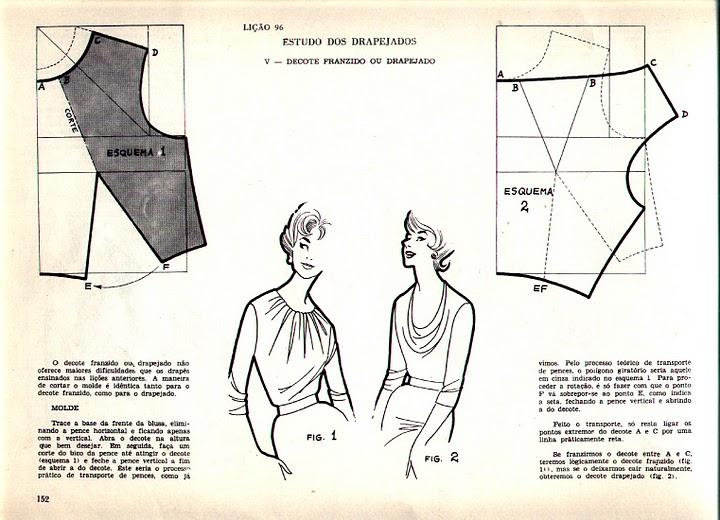 Блузка с воротником водопад выкройка Классная одежда
