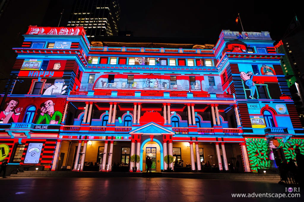 Philip Avellana, Australian Landscape Photographer, Vivid Sydney, Event, CBD, NSW, New South Wales, Australia, lighting, long exposure, 2012, Custom House, light pattern