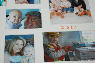 family photos in a collage frame