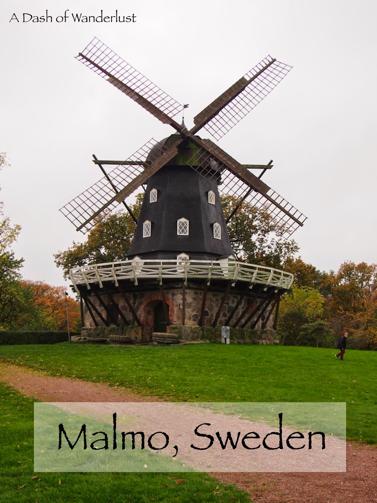 an old style windmill at the Malmo house castle