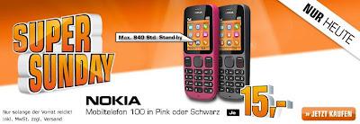 Saturn-Super-Sonntag: Nokia 100 für 15 Euro