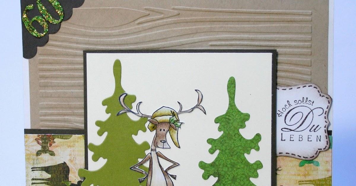 Bastelblog von anja katy f r einen j ger zum 60 for Weihnachtshirsch deko