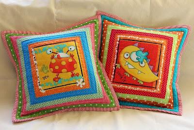 patchworkowa poduszka dziecięca