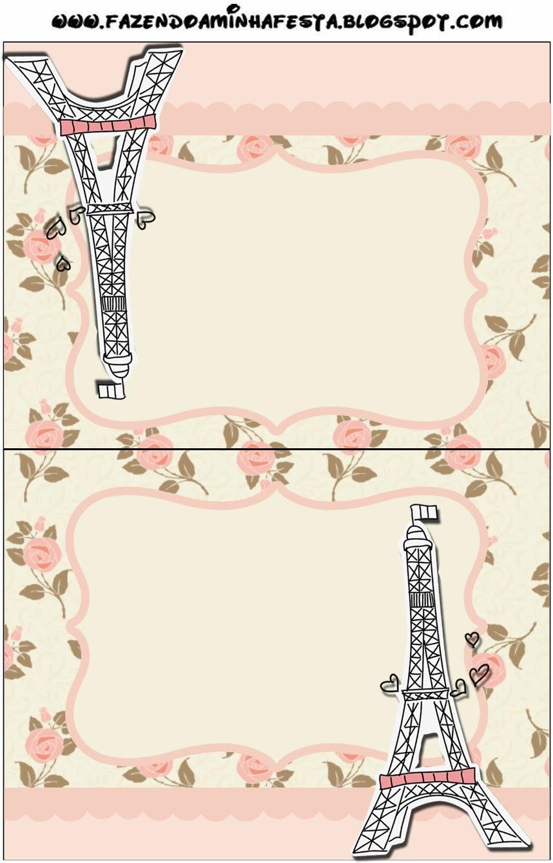 Invitaciones Para Imprimir De Paris